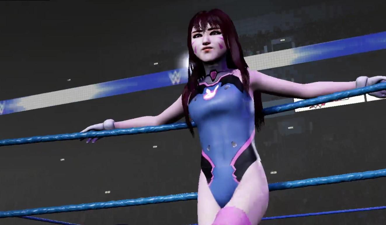 DVa vs Ashe Overwatch Women Wrestling